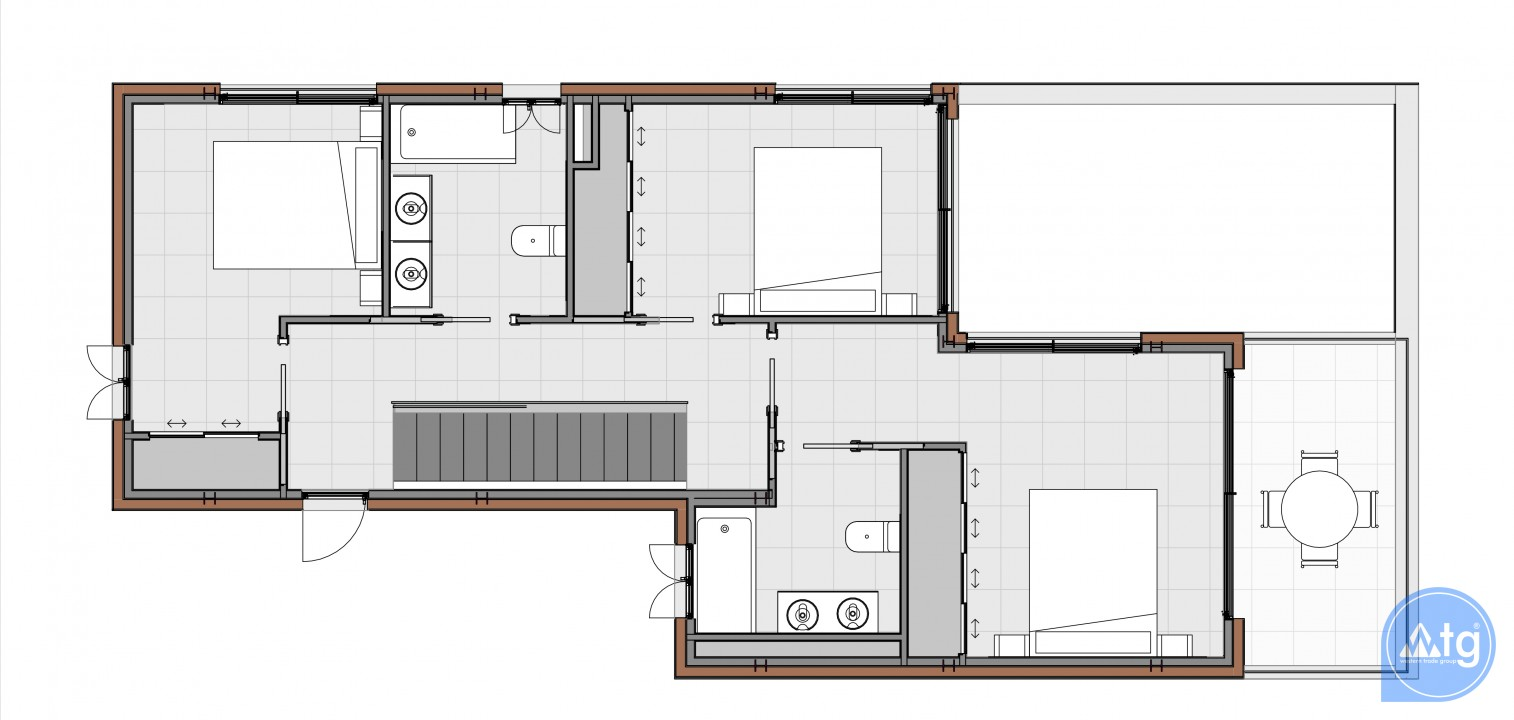 3 bedroom Townhouse in Torrevieja - US6862 - 9