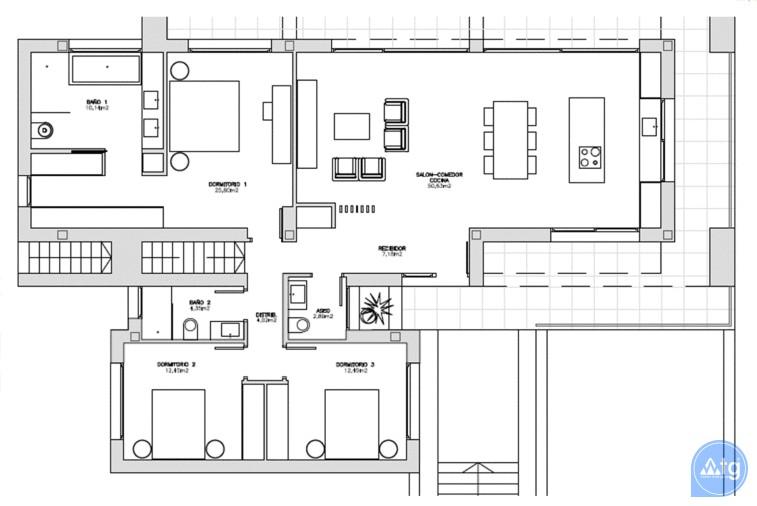 3 bedroom Villa in Ciudad Quesada  - BEV115753 - 8
