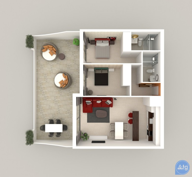2 bedroom Apartment in Alicante - AG3516 - 13