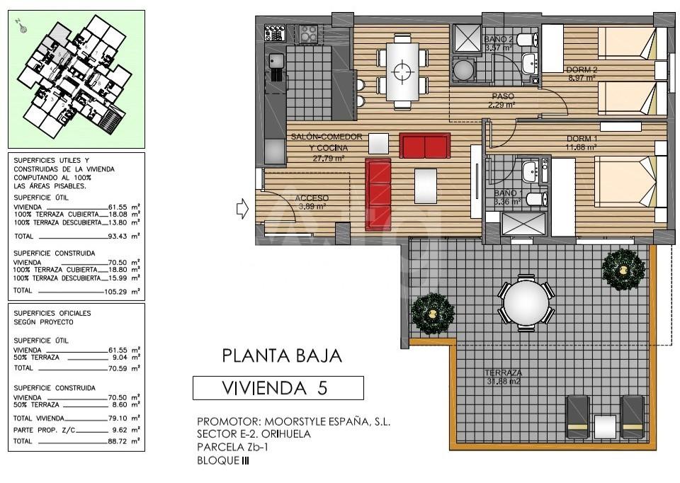 2 bedroom Apartment in La Zenia - US6823 - 19