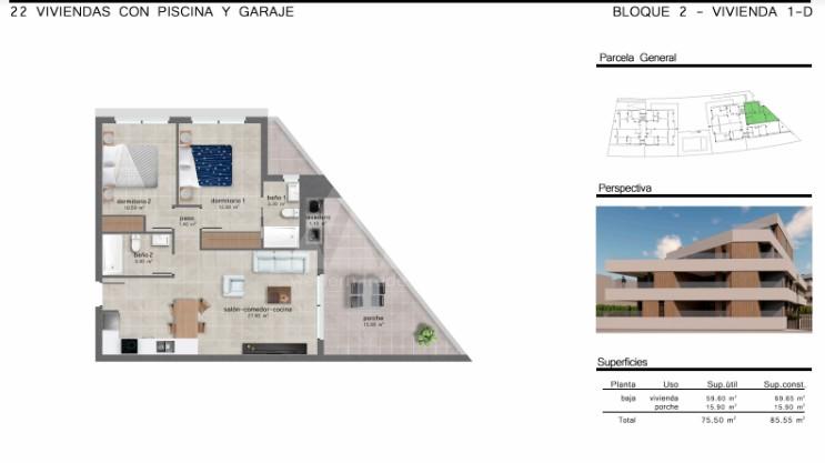 2 bedroom Apartment in San Javier  - GU114728 - 40