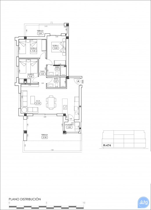 3 bedroom Apartment in Villamartin  - TRI114868 - 36