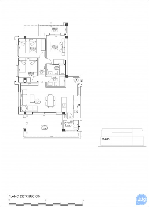 3 bedroom Apartment in Villamartin  - TRI114868 - 42