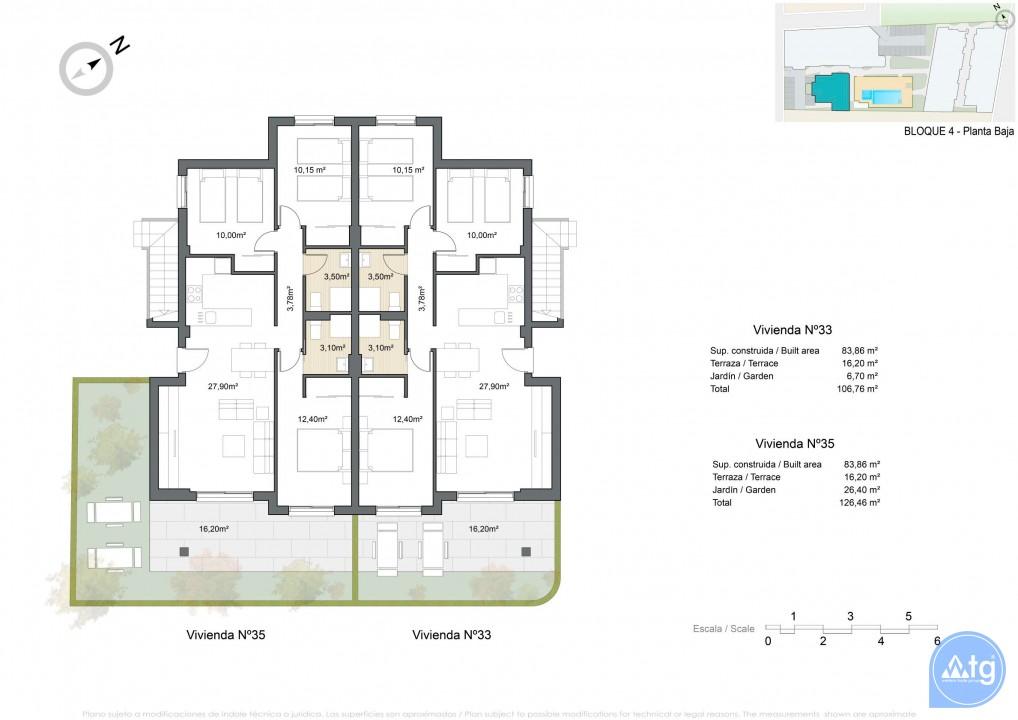 Appartement de 2 chambres à Pilar de la Horadada - VG114718 - 13