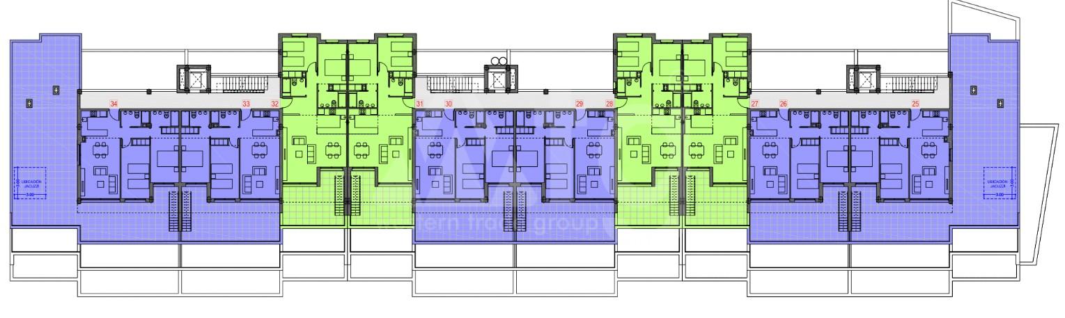 Appartement de 3 chambres à Orihuela - CEN115801 - 22