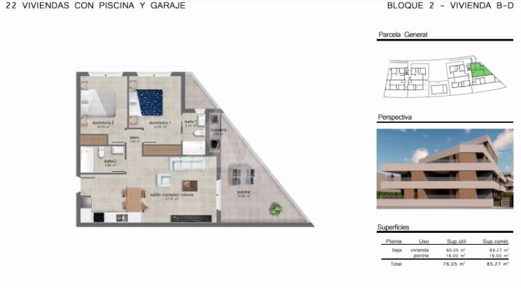 Appartement de 2 chambres à San Javier - GU114732 - 10