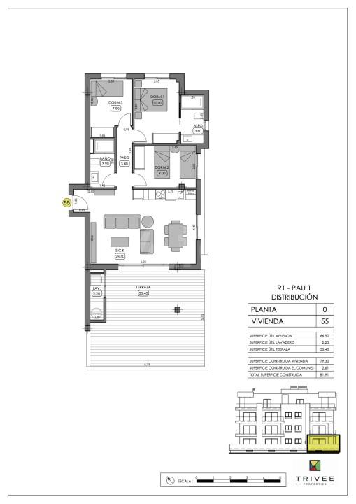Appartement de 2 chambres à San Pedro del Pinatar - GU8311 - 5