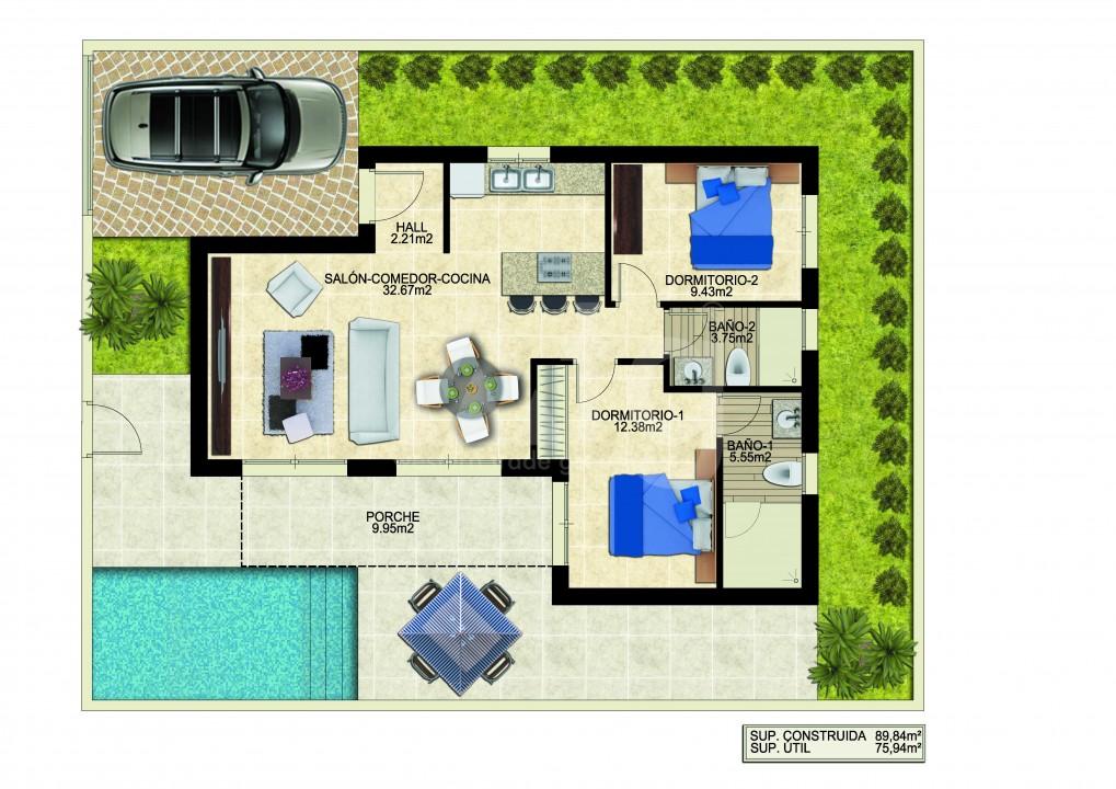 2 bedroom Villa in Benijófar - M6179 - 2
