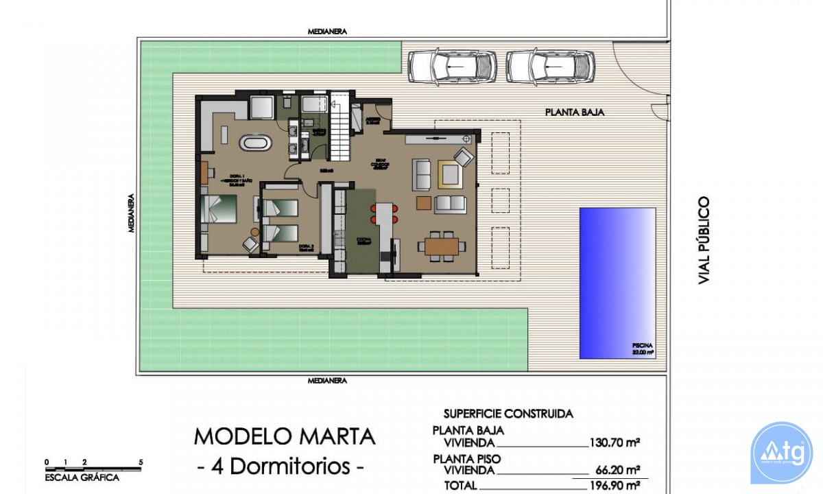 Villa de 4 chambres à Dehesa de Campoamor - AGI8512 - 43