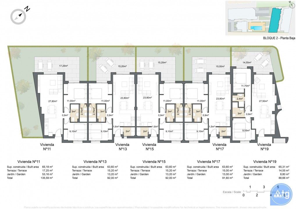 Bungalow de 2 chambres à Torrevieja - AGI5756 - 9