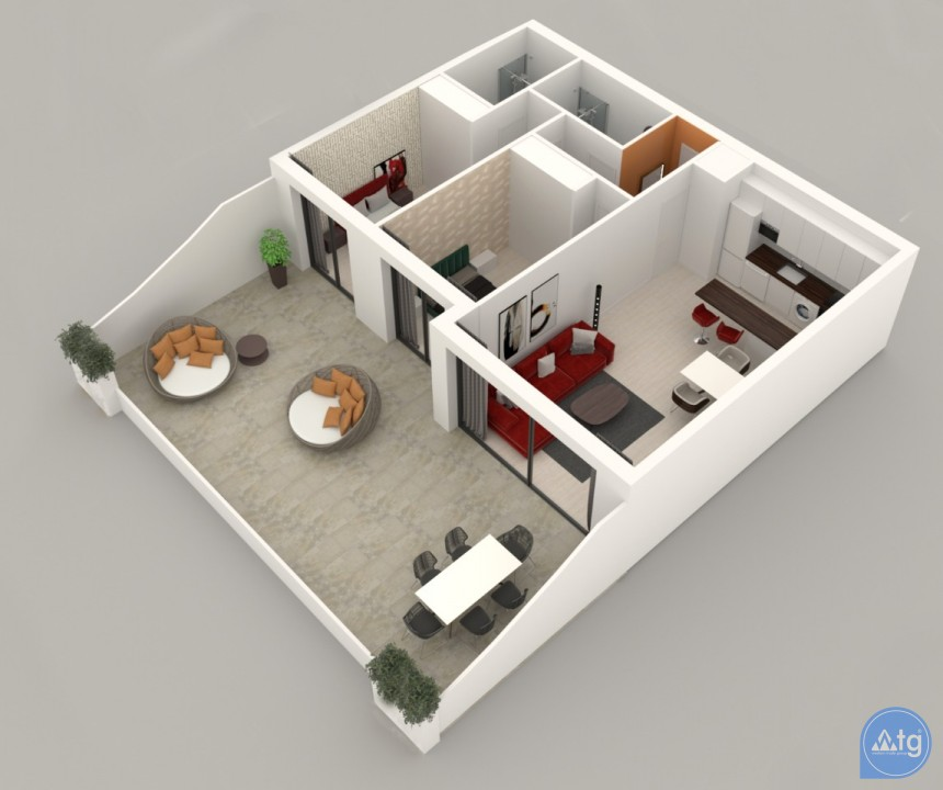 3 bedroom Apartment in Alicante - AG3509 - 14
