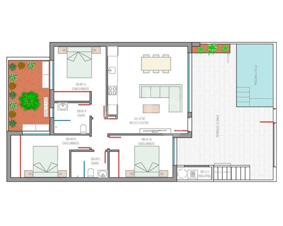 3 bedroom Villa in El Fondó de les Neus - CN8056 - 3