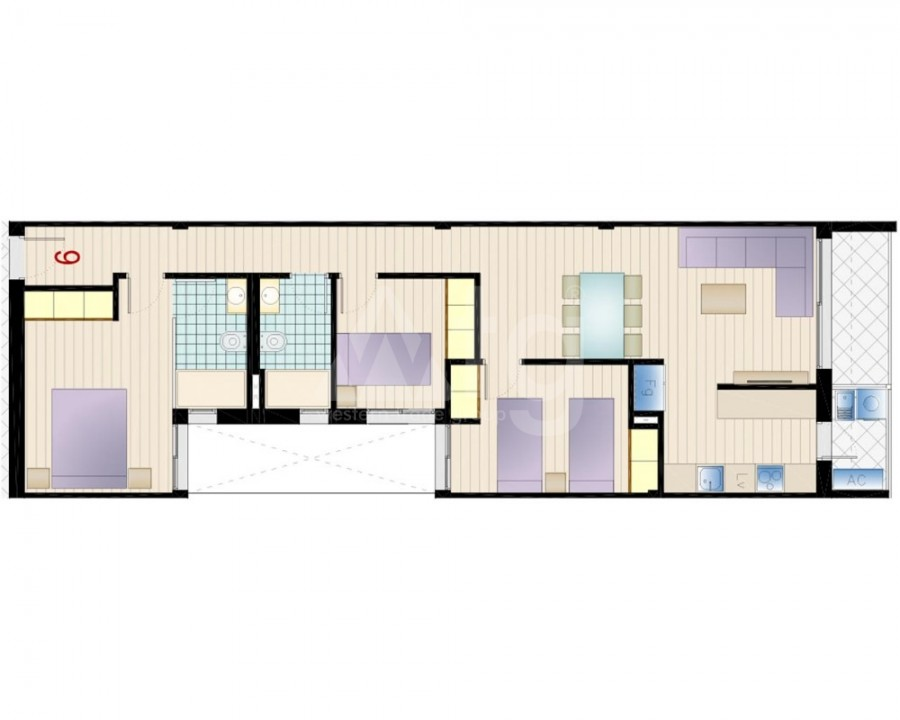 4 bedroom Apartment in Torrevieja - GDO8128 - 3