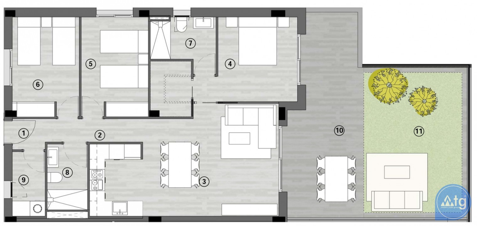3 bedroom Apartment in Gran Alacant  - GD1113514 - 23
