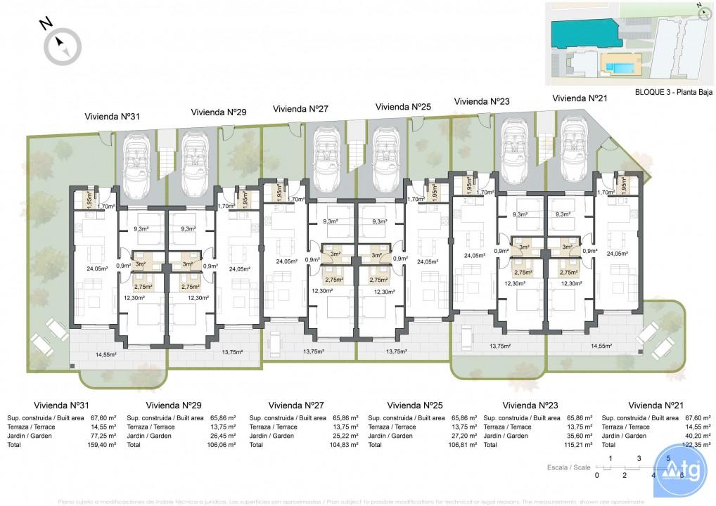 Appartement de 2 chambres à Pilar de la Horadada - VG114715 - 11