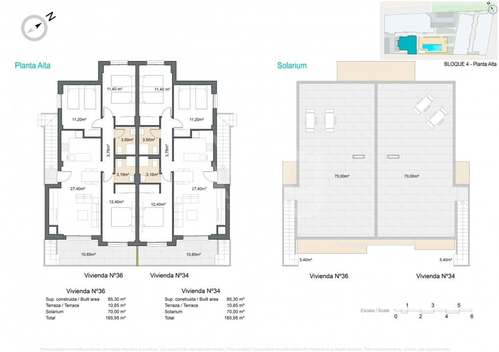 Appartement de 2 chambres à Pilar de la Horadada - VG114715 - 12