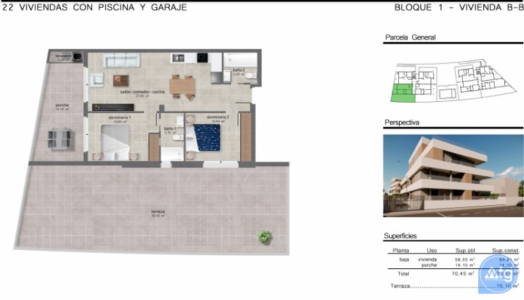 Appartement de 2 chambres à San Javier - GU114744 - 10