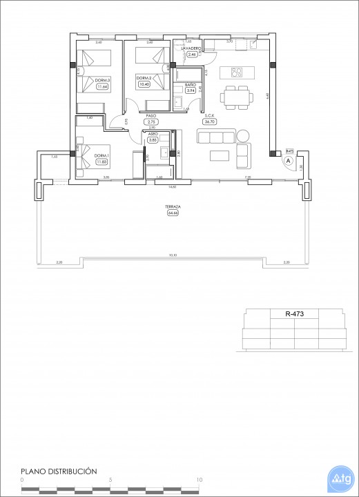 Appartement de 2 chambres à Villamartin - TRI114861 - 47