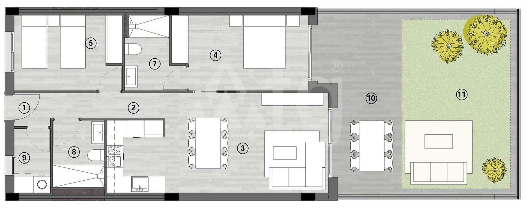 Appartement de 3 chambres à Gran Alacant - GD1113517 - 22