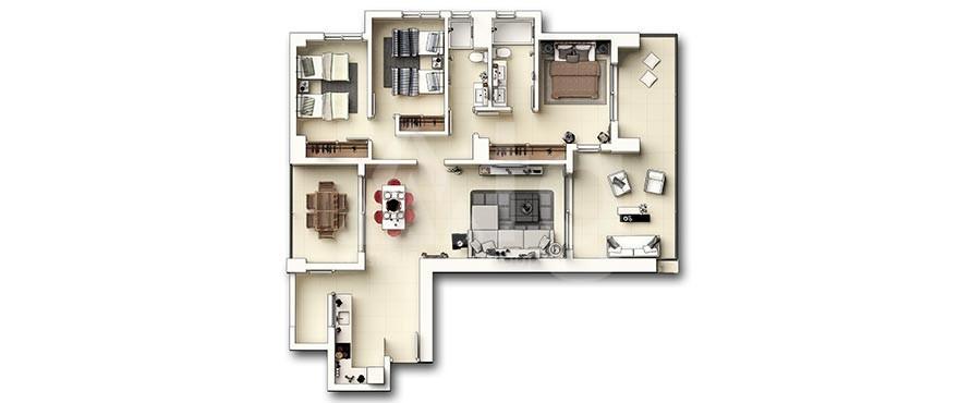 Appartement de 3 chambres à Punta Prima - GD6287 - 24