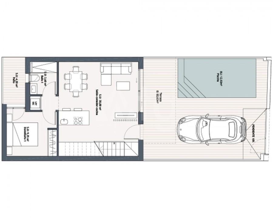 2 bedroom Villa in Ciudad Quesada  - ER8266 - 10