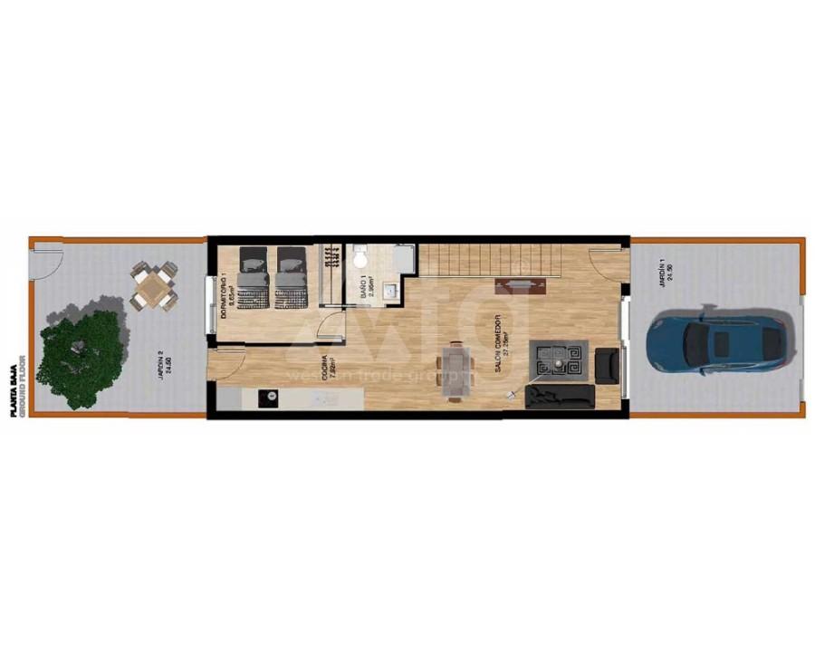 Villa de 3 chambres à Pilar de la Horadada - RP8068 - 13
