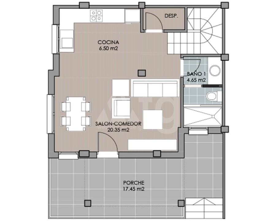 Villa de 3 chambres à San Miguel de Salinas - GEO8119 - 2