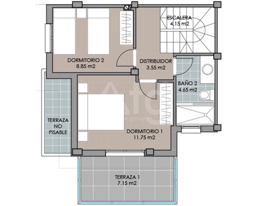 Villa de 3 chambres à San Miguel de Salinas - GEO8119 - 3