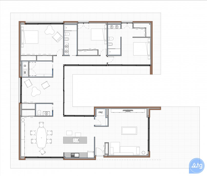3 bedroom Apartment in Elche - US6867 - 8