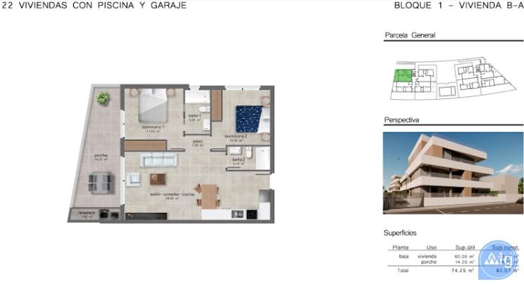 2 bedroom Apartment in San Javier  - GU114723 - 10