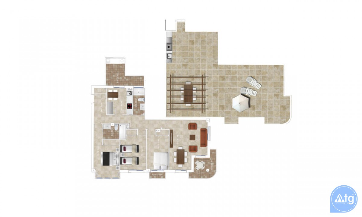 3 bedroom Apartment in Los Belones  - AGI5778 - 38