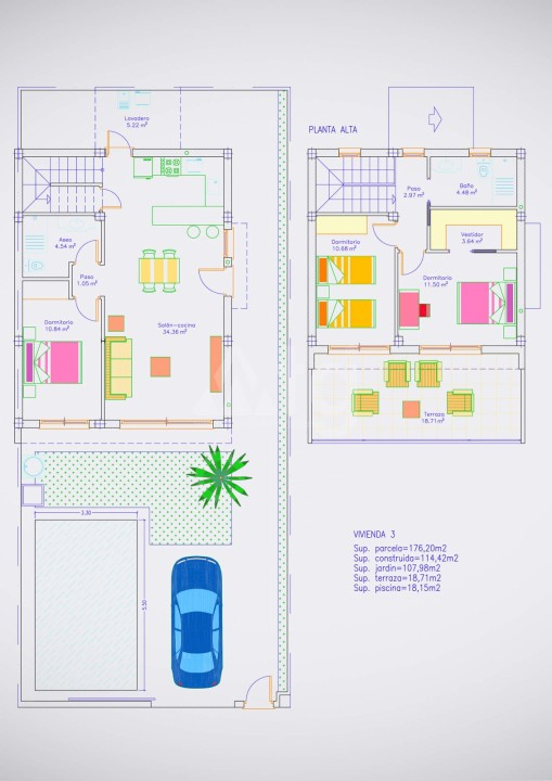3 bedroom Villa in Pilar de la Horadada  - RP8068 - 43