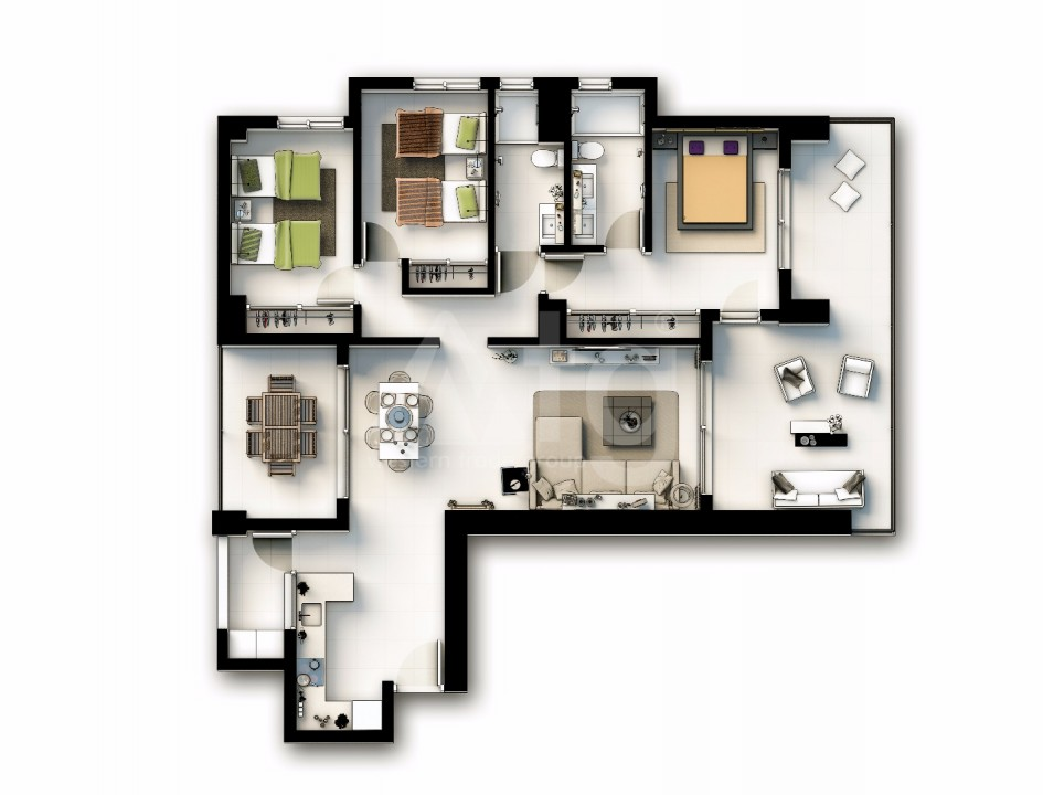 3 bedroom Apartment in Punta Prima - GD9431 - 11