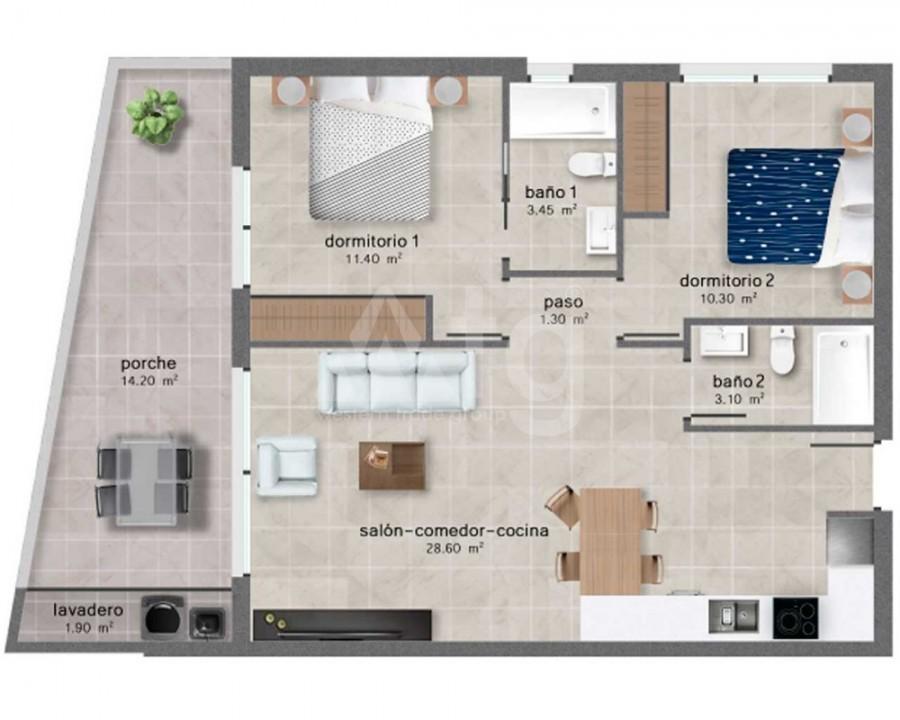 2 bedroom Bungalow in Algorfa - PT8110 - 10