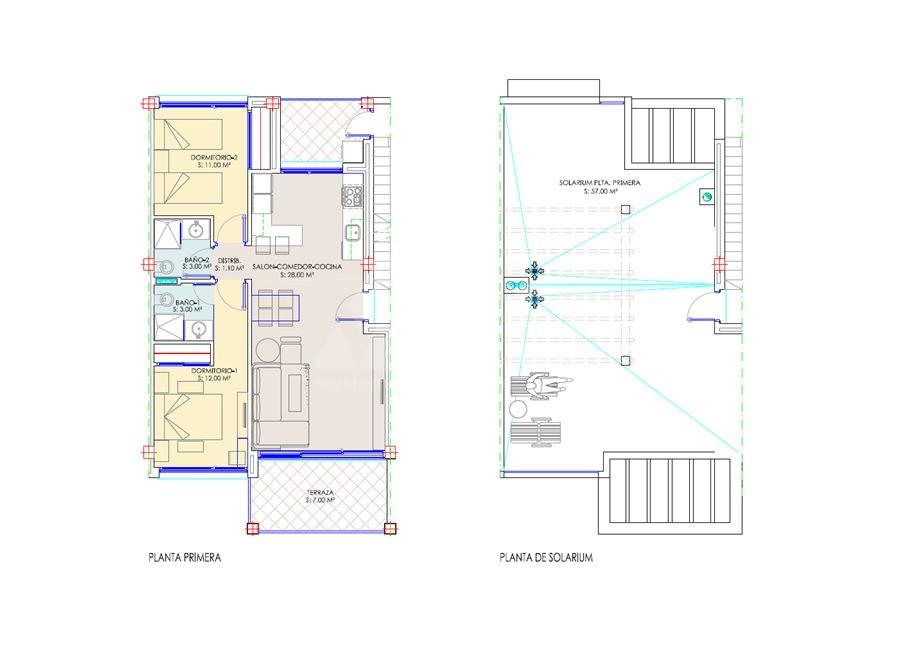 2 bedroom Bungalow in Pilar de la Horadada  - SR7397 - 13