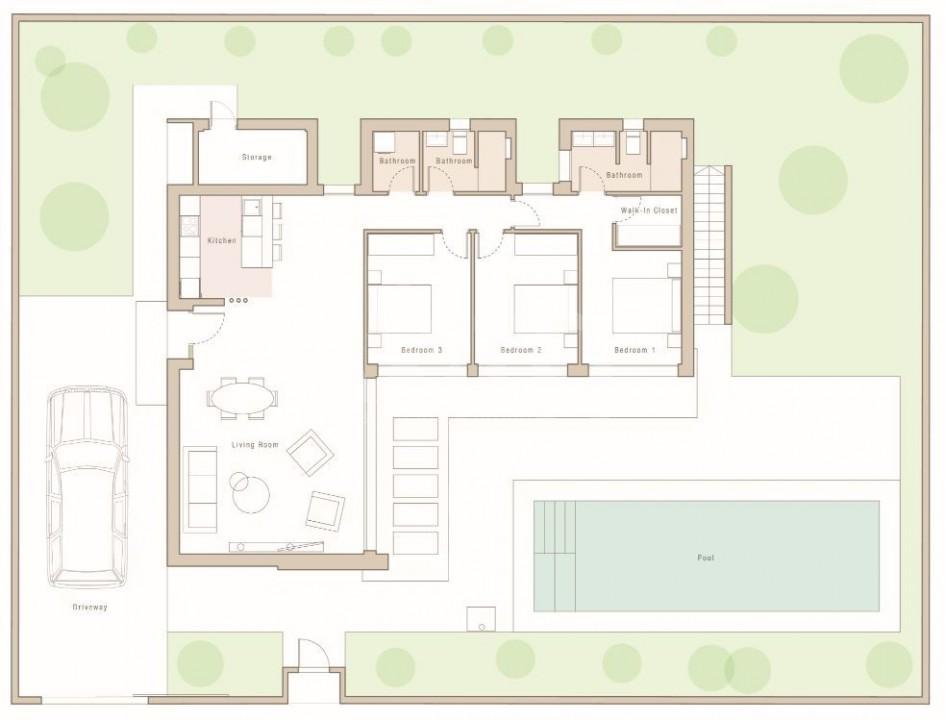 3 bedroom Villa in Mar de Cristal  - CVA115775 - 14