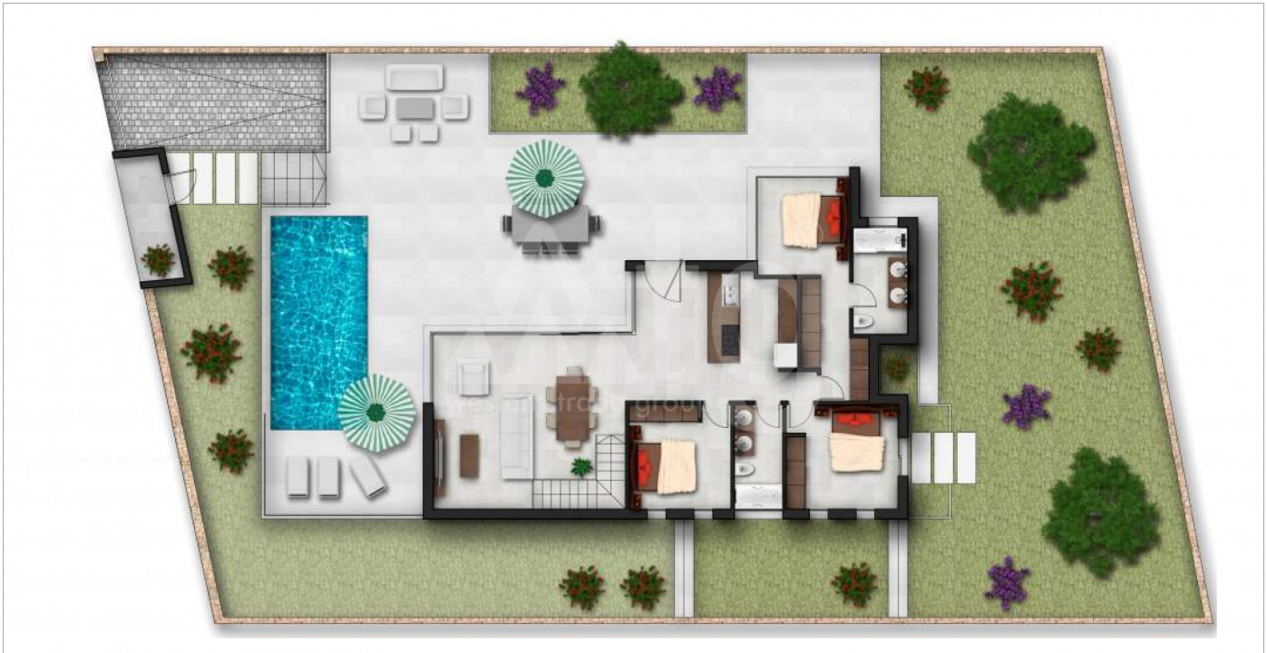 3 bedroom Villa in Finestrat  - HC115192 - 21