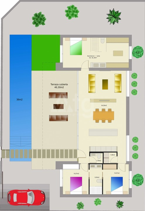 3 bedroom Villa in Benijófar  - M8142 - 2