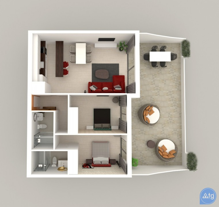 2 bedroom Apartment in Calpe  - CAM8377 - 15