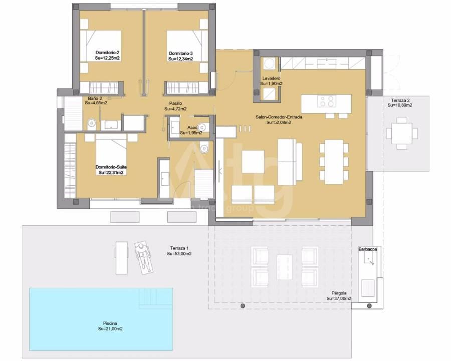 2 bedroom Apartment in La Manga  - GRI7686 - 9