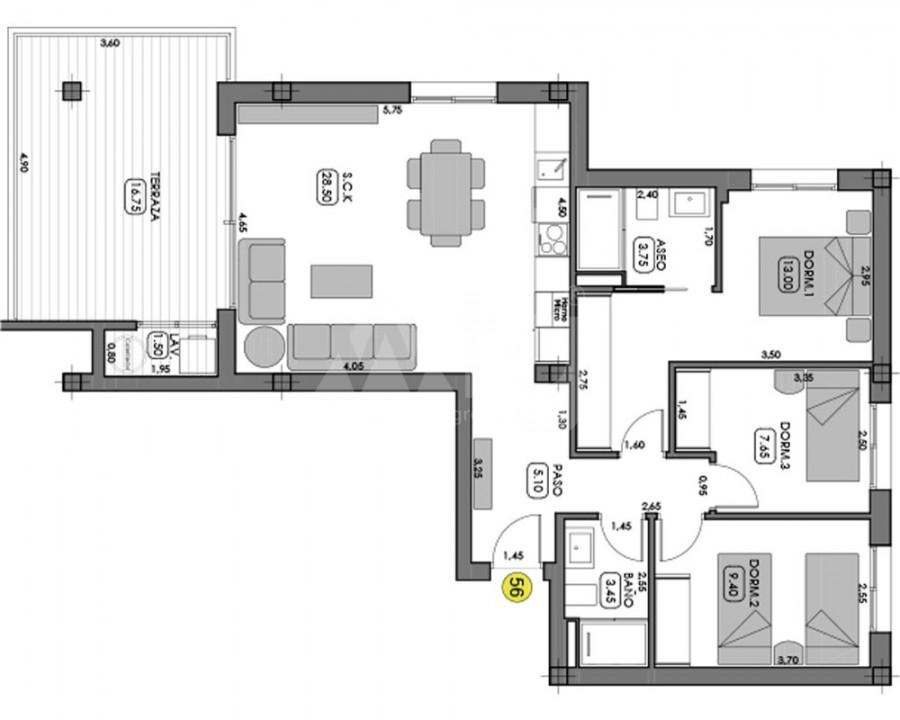 3 bedroom Apartment in Villamartin  - NS8268 - 5