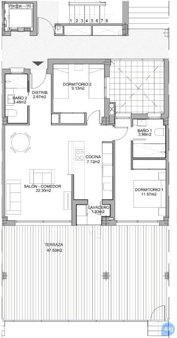 2 bedroom Apartment in Villamartin - VD7901 - 21