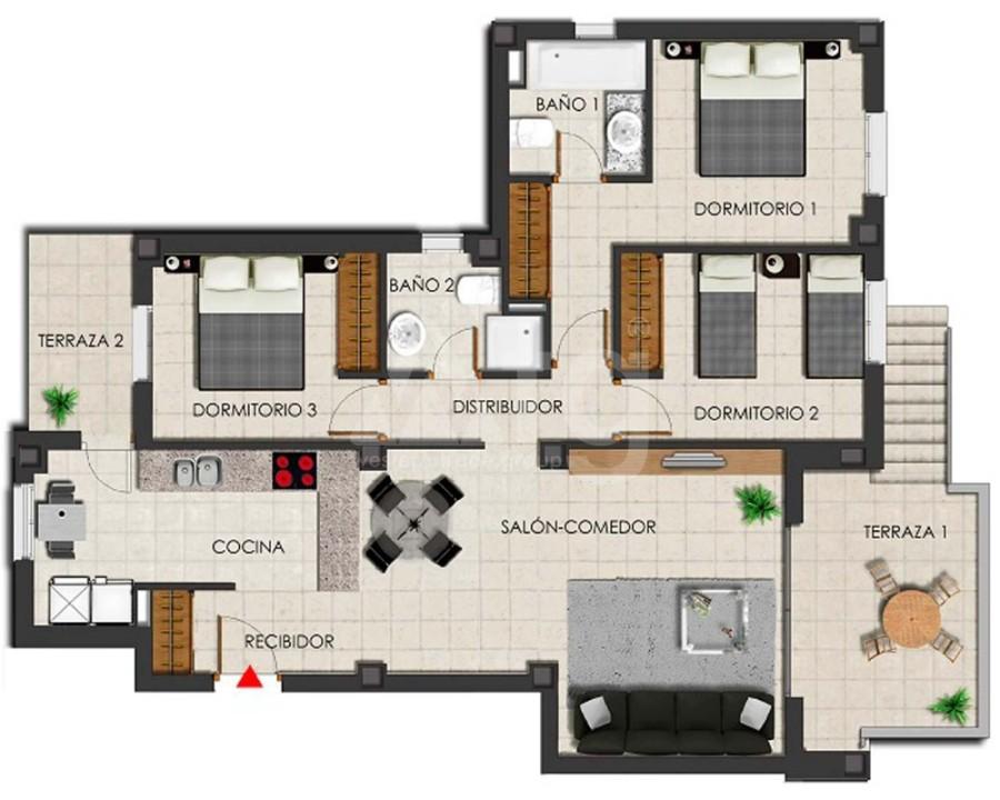 3 bedroom Apartment in Villamartin - GB7800 - 14