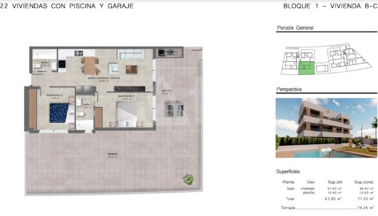 2 bedroom Apartment in San Javier  - GU114743 - 10