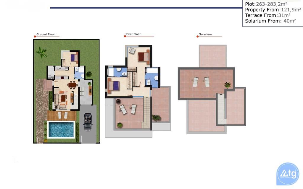 3 bedroom Villa in Ciudad Quesada  - ER7177 - 11