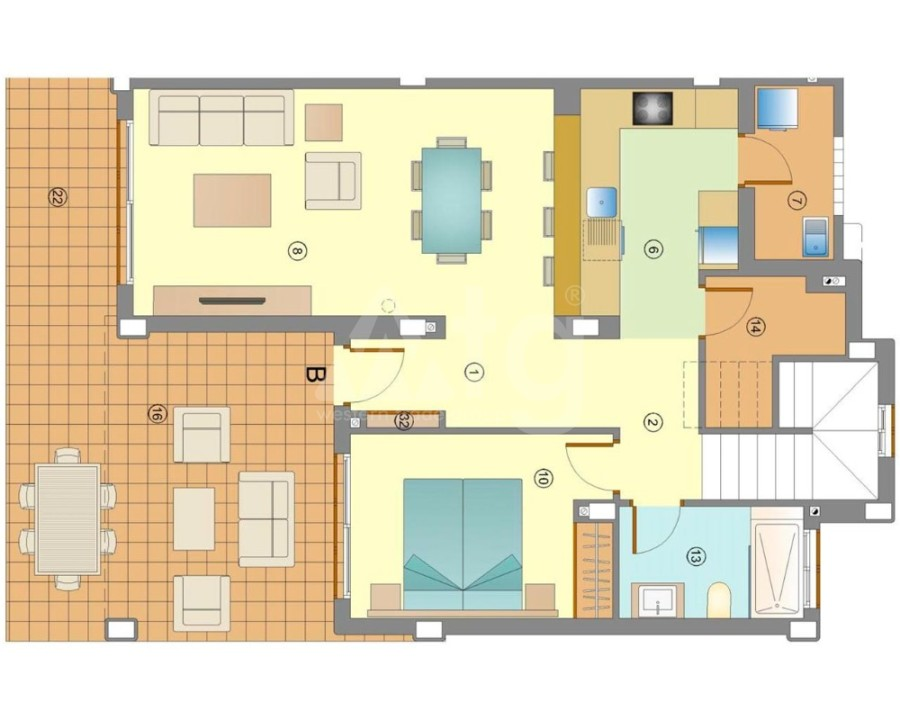 3 bedroom Villa in Rojales  - GV8195 - 4