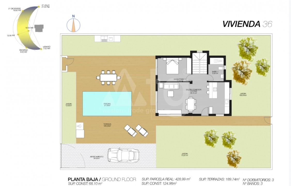 3 bedroom Villa in San Pedro del Pinatar - GU6649 - 10