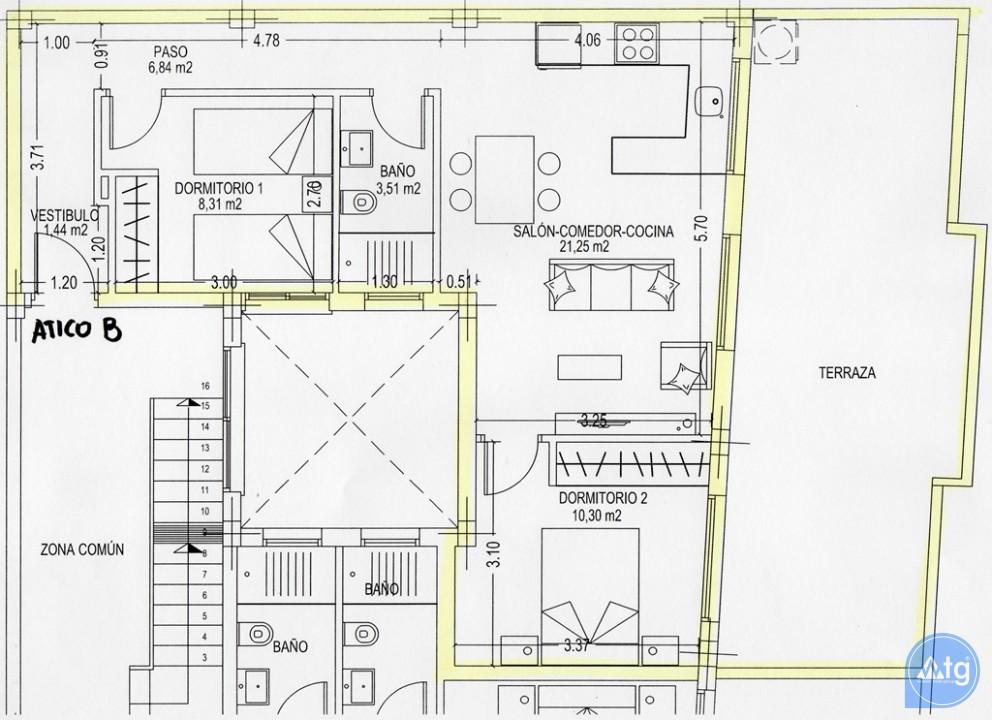 2 bedroom Penthouse in Pilar de la Horadada  - AN10002 - 43