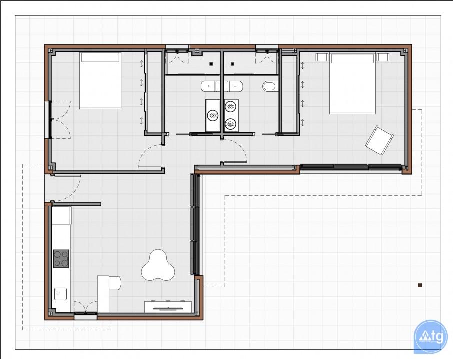 Bungalow de 2 chambres à Torrevieja - US6848 - 8