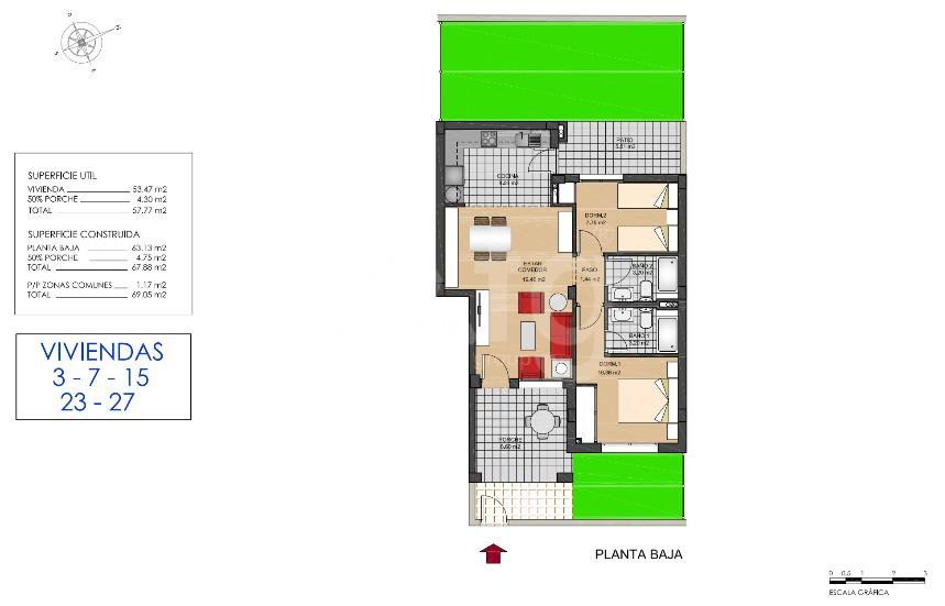 Bungalow de 2 chambres à Torrevieja - US6858 - 25